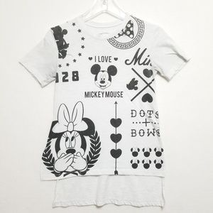Disney Mickey Mouse High Low T Shirt  Size Small